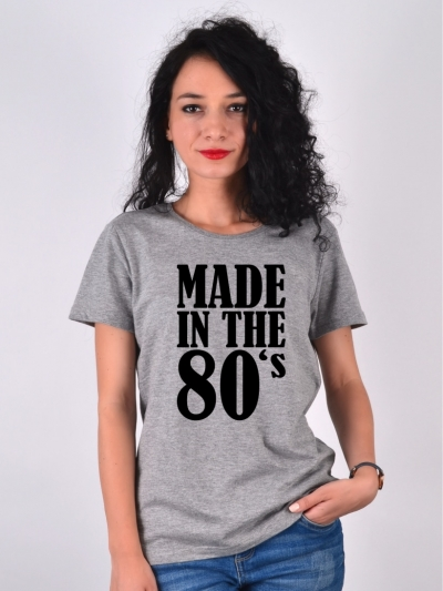 TRICOU MADE IN THE 80S GRI
