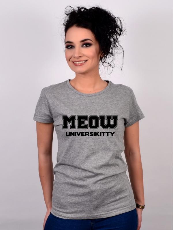 Tricou Gri MEOW Universikitty