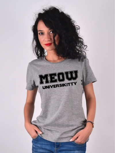 TRICOU MEOW UNIVERSIKITTY GRI