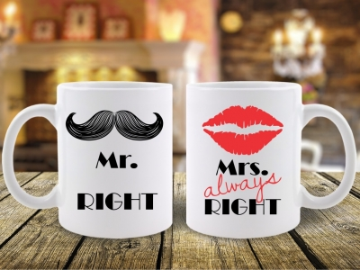 Set 2 Cani Mr. Right si Mrs. Alawys Right