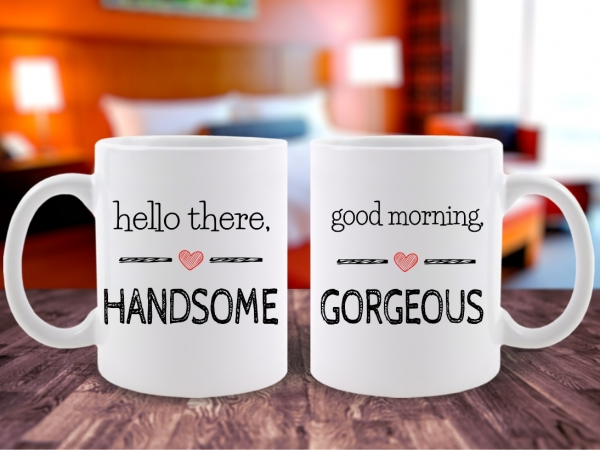 Set 2 Cani Cuplu Handsome&Gorgeous