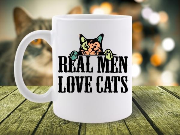 Cana Mesaj Real Men Love Cats