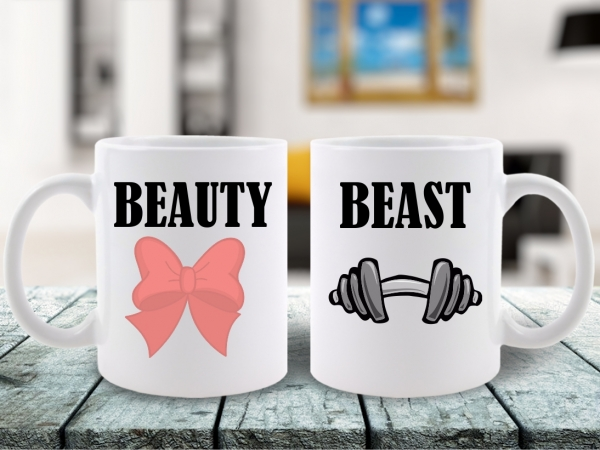 CANA SET CUPLU ZIUA INDRAGOSTITILOR BEAUTY AND THE BEAST