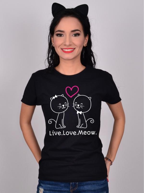 Tricou Live.Love.Meow