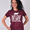 TRICOU VISINIU MY CAT IS MY VALENTINE
