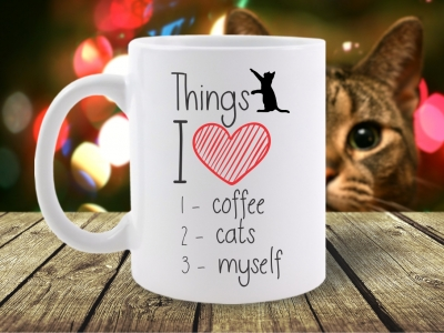 Cana Mesaj Things I Love: Coffee, Cats, Myself