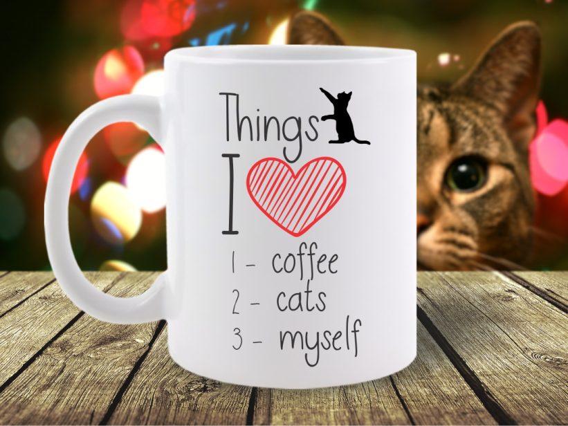 Cana Mesaj Things I Love: Coffee, Cats, Myself