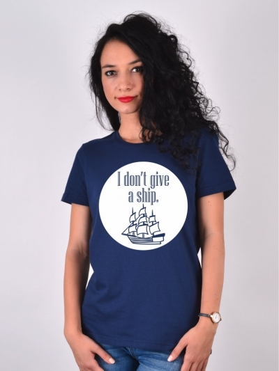 TRICOU I DONT GIVE A SHIP BLEUMARIN