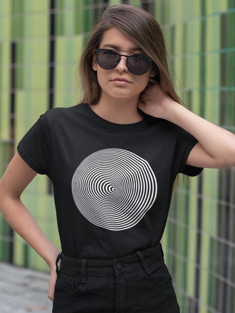 Tricou Negru Iluzie Optica