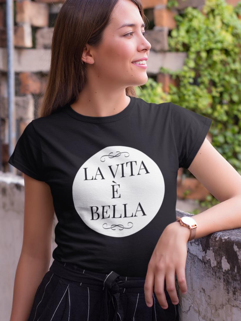 Tricou Negru La Vita e Bella