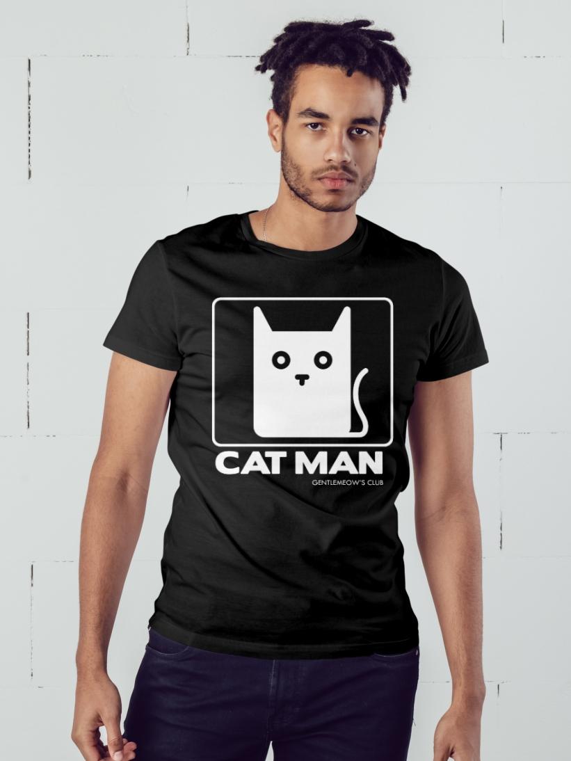 Tricou Barbati Negru Cat Man