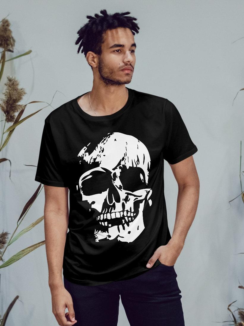 Tricou Barbati Negru Craniu CSTI