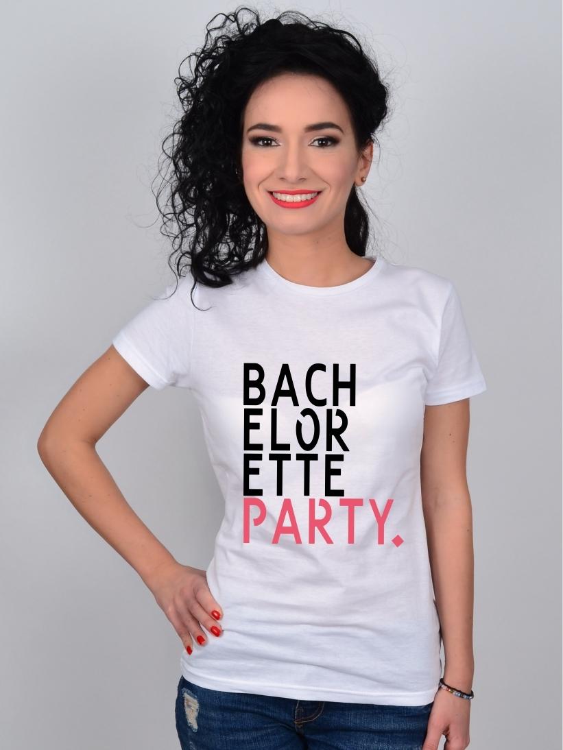 Tricou Alb BACHELORETTE PARTY