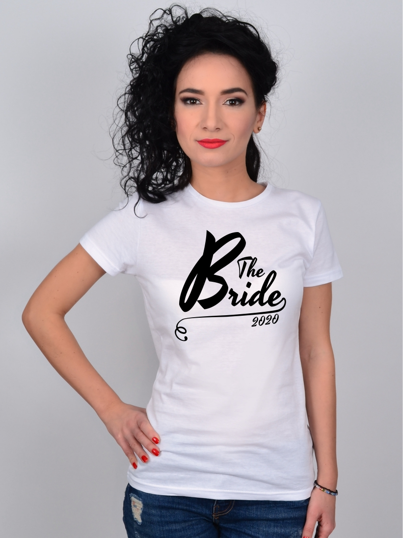 Tricou Alb The Bride 2020 Petrecerea Burlacitelor
