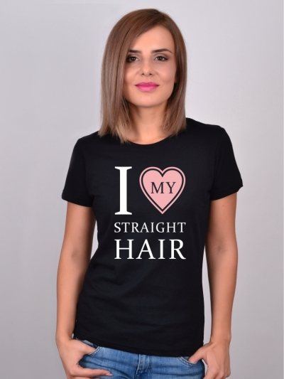 Tricou Despre Par I Love My Straight Hair