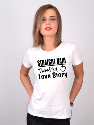 Tricou Despre Par Straight Hair Twisted Love