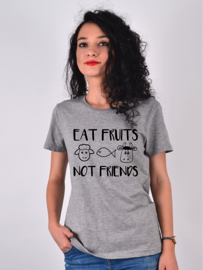 TRICOU GRI EAT FRUITS NOT FRIENDS