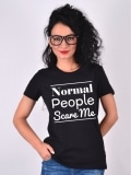 TRICOU NORMAL PEOPLE SCARE ME NEGRU