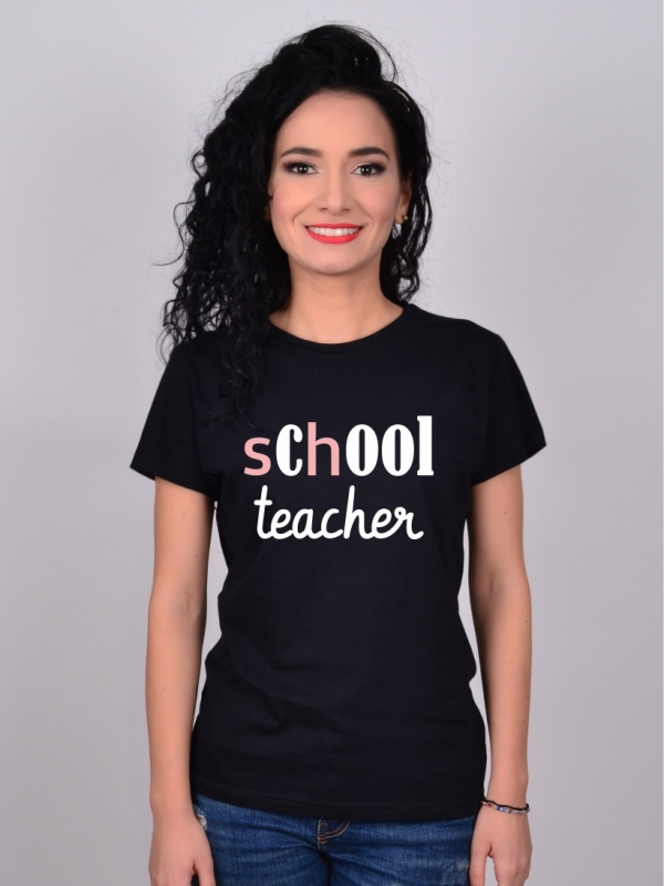 Tricou Negru COOL TEACHER