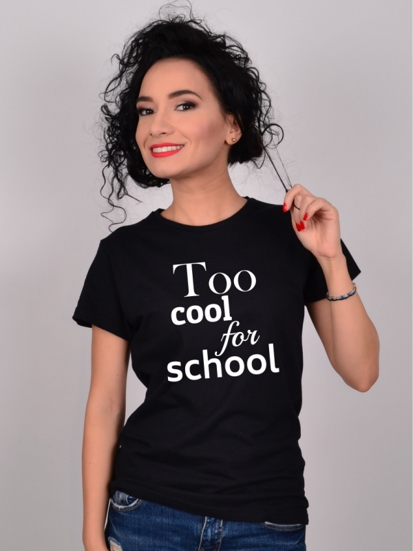 Tricou Negru Too Cool For School
