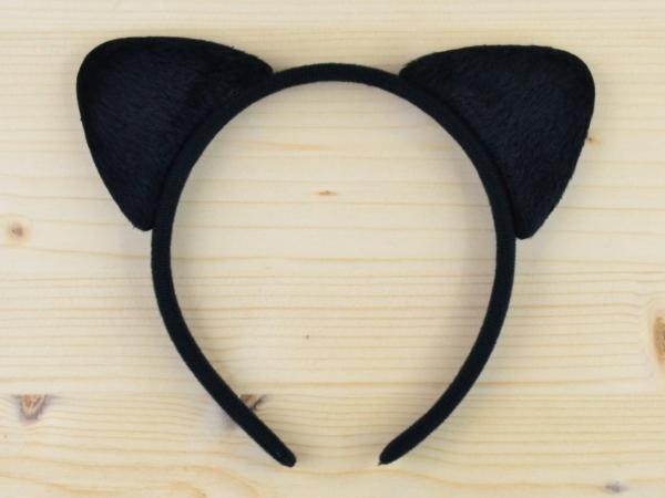 Bentita Urechi de Pisica Neagra Catifea