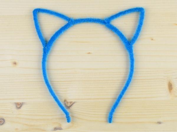 Bentita Urechi de Pisica Albastru Puf