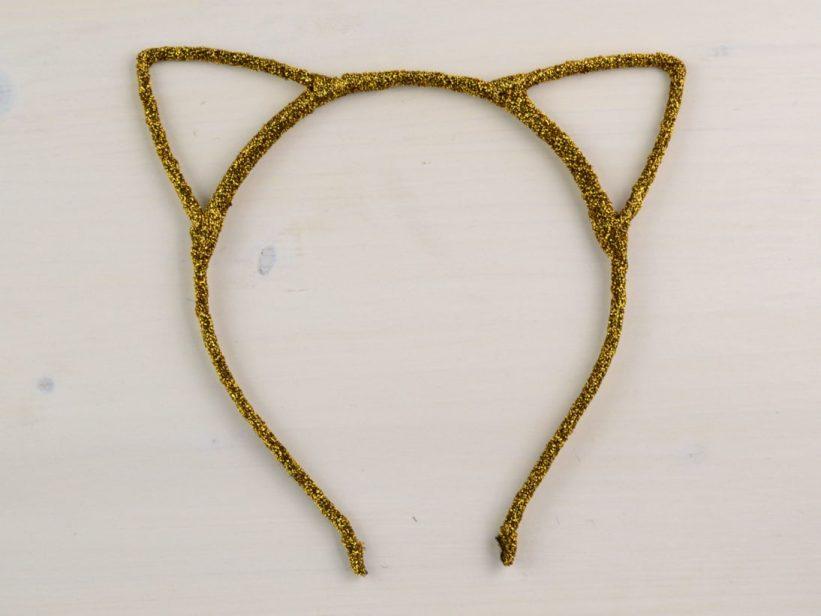 Bentita Urechi de Pisica Auriu Sclipici