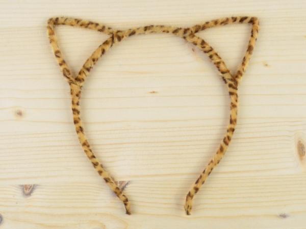 Bentita Urechi de Pisica Animal Print Maro Puf