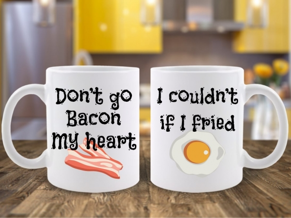 Set 2 Cani Cuplu Bacon and Eggs