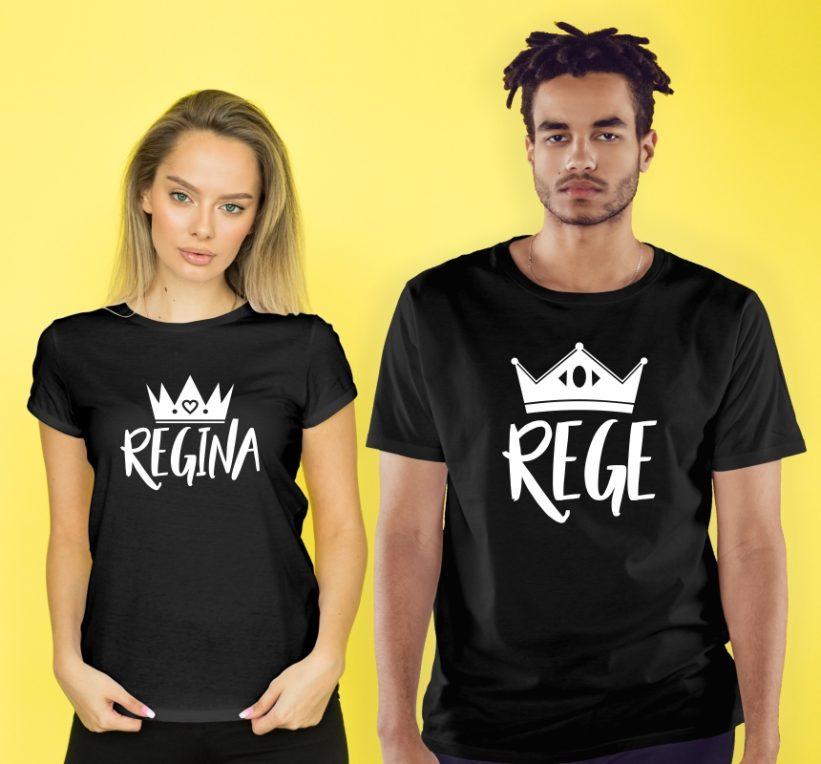 Tricouri Cuplu Rege si Regina
