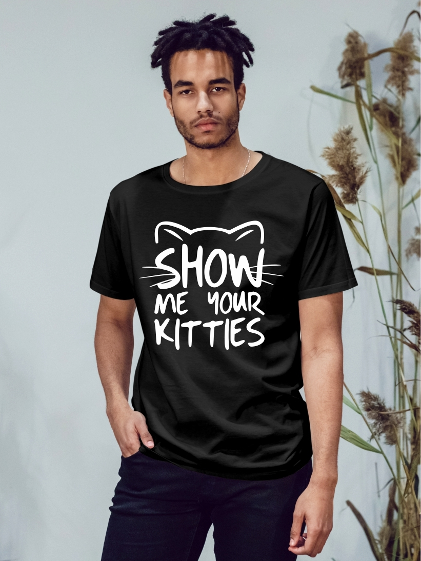 Tricou Barbati Negru Show Me Your Kitties