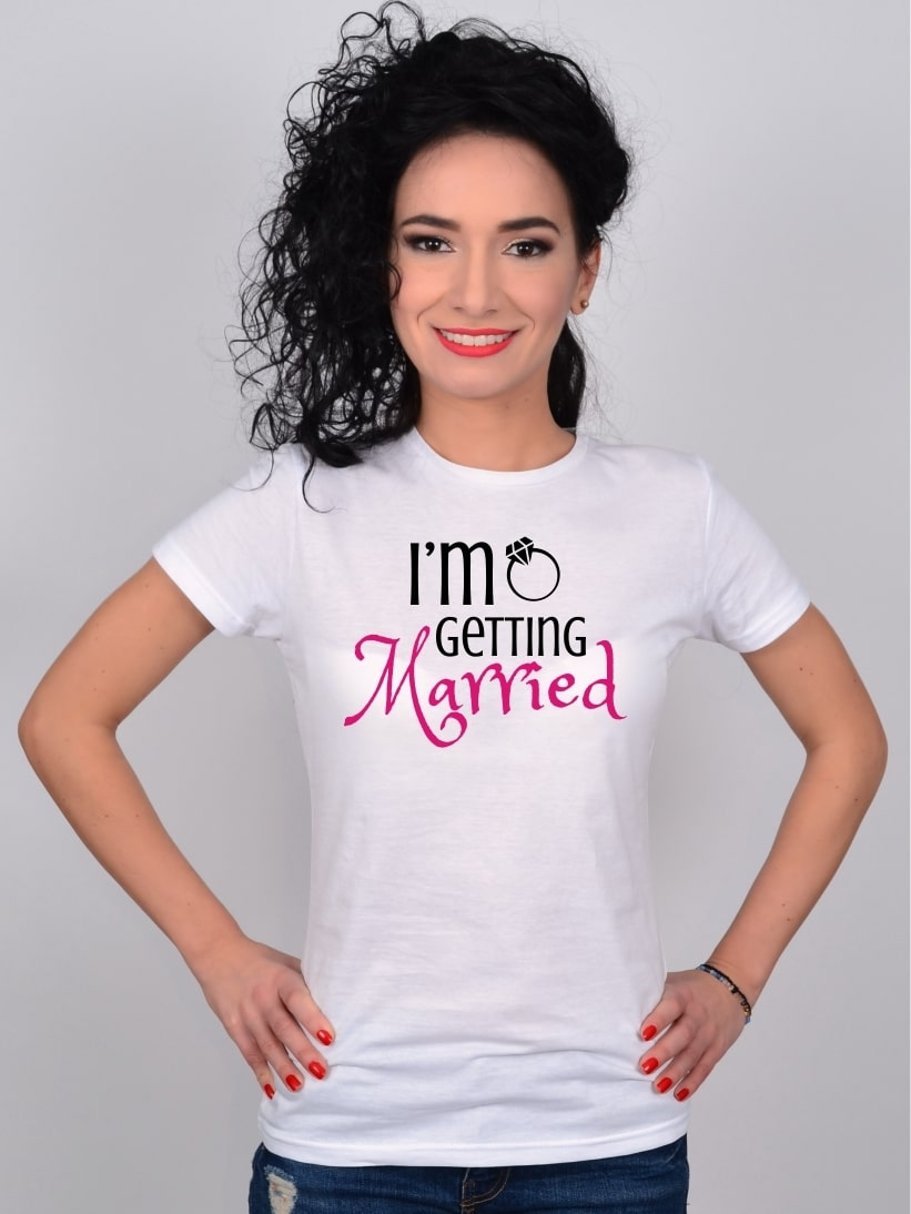 Tricou Alb I'm Getting Married