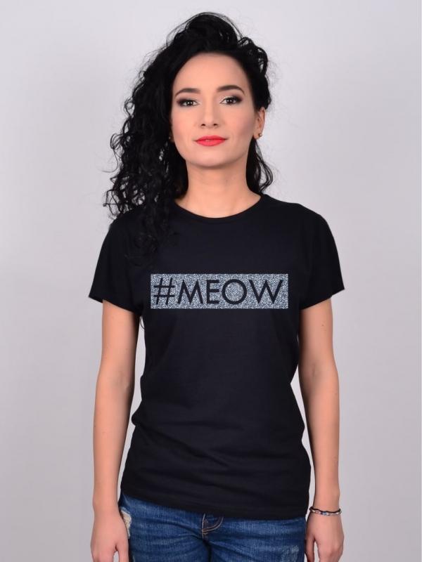 Tricou Glitter #MEOW
