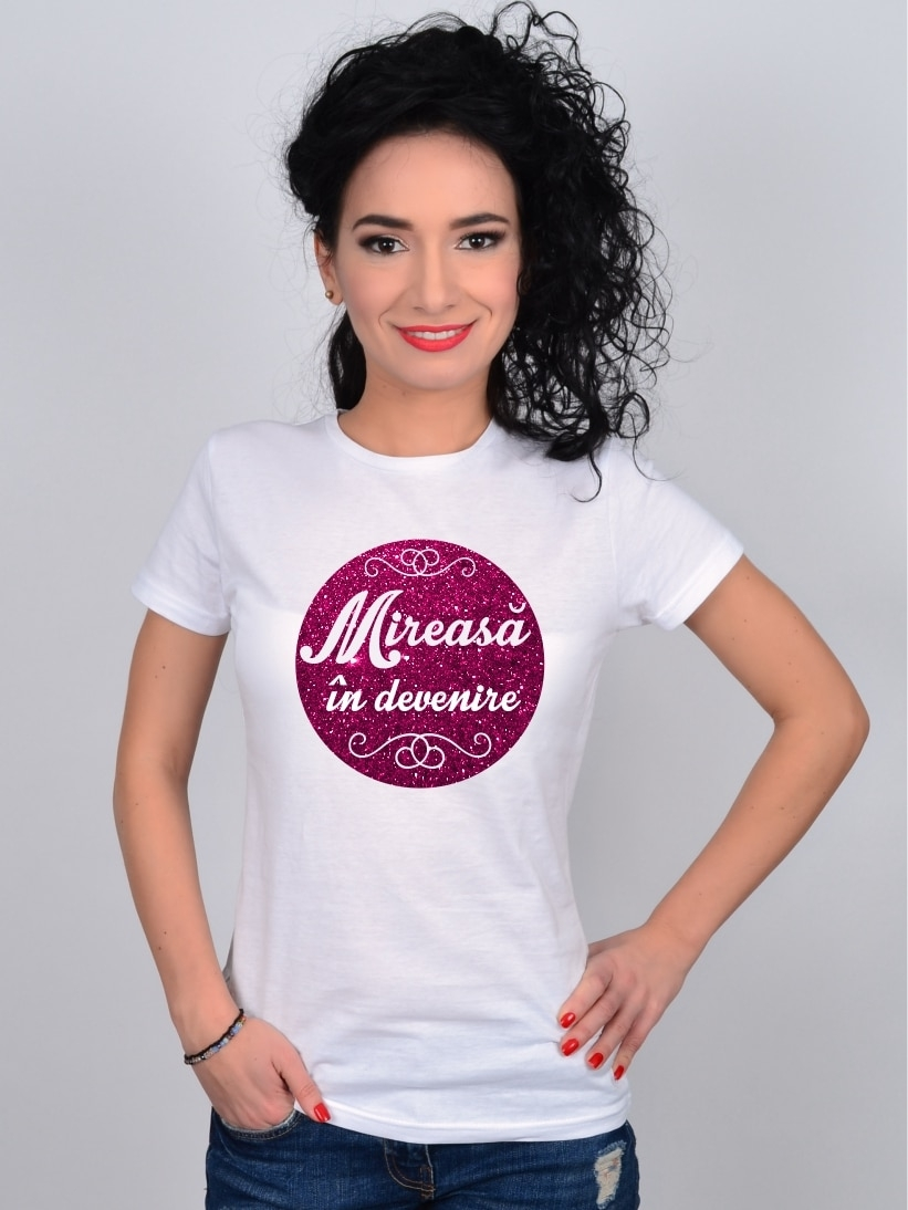 Tricou Burlacite Premium Mireasa in Devenire