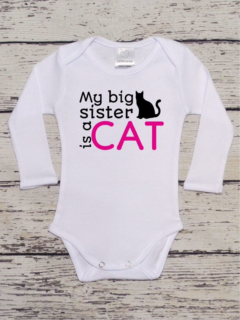 Body Haios Bebelusi My Big Sister is a Cat