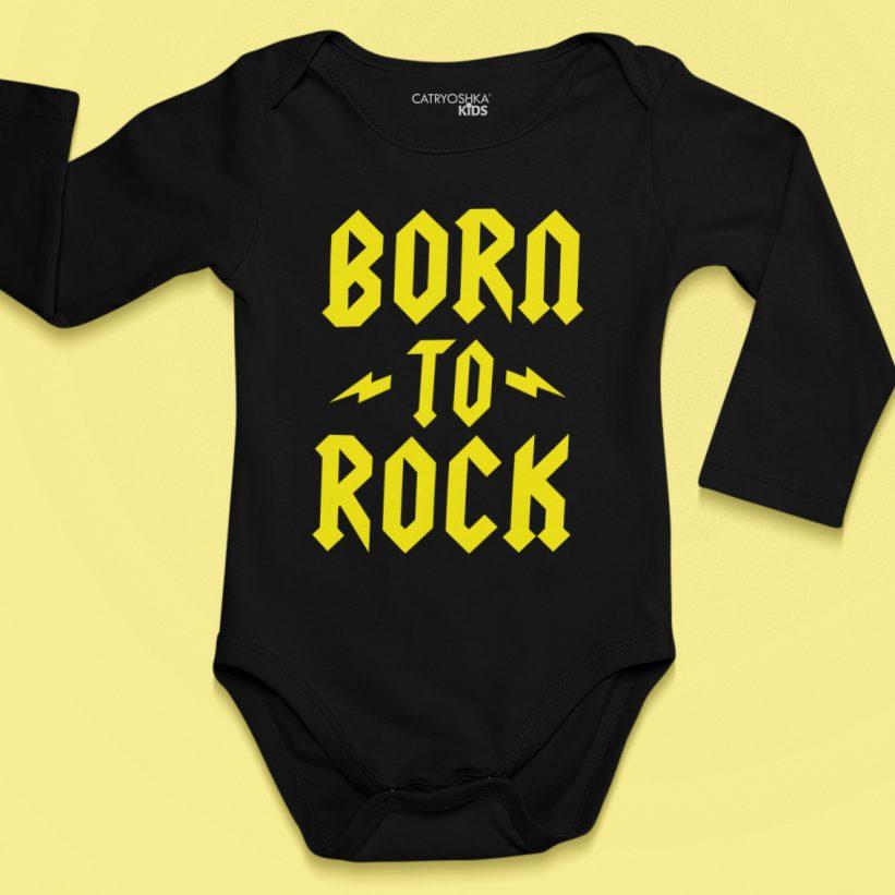 Body Bebelusi Born To Rock Negru