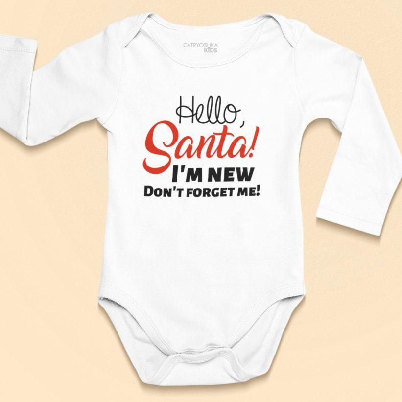 Body Copii Cu Mesaj Hello Santa