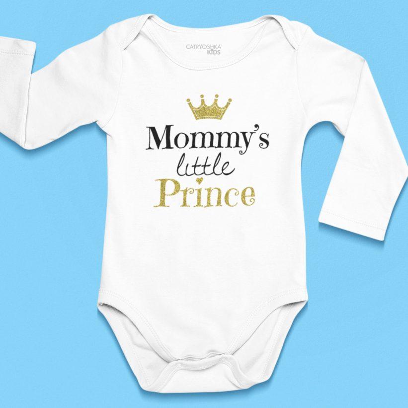 Body Bebelusi cu Mesaj Mommy's Little Prince