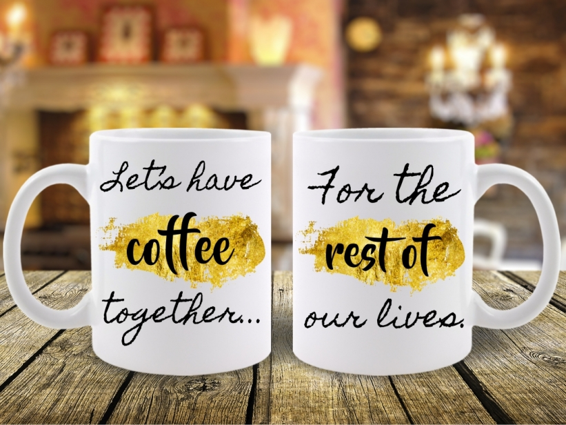Cani Cuplu Let's Get Coffee Together