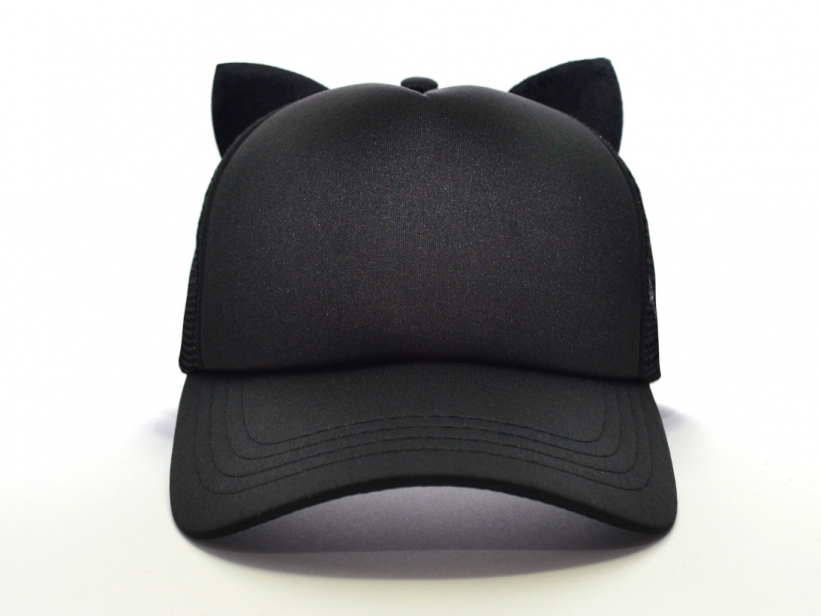 Sapca cu Urechi de Pisica Neagra