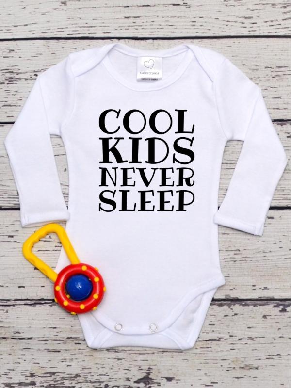 Body Bebelusi cu Mesaj Cool Kids Never Sleep