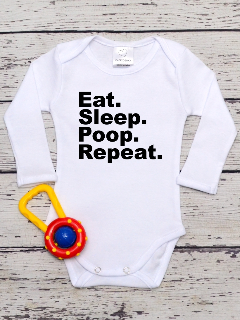 Body Bebelusi Eat. Sleep. Poop. Repeat