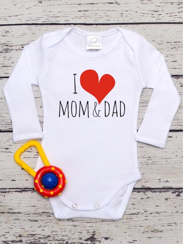 Body Copii cu Mesaj I Love Mom & Dad