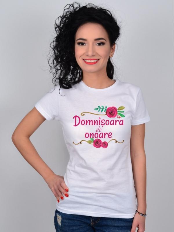 Tricou Petrecerea Burlacitelor Domnisoara de Onoare Floricele