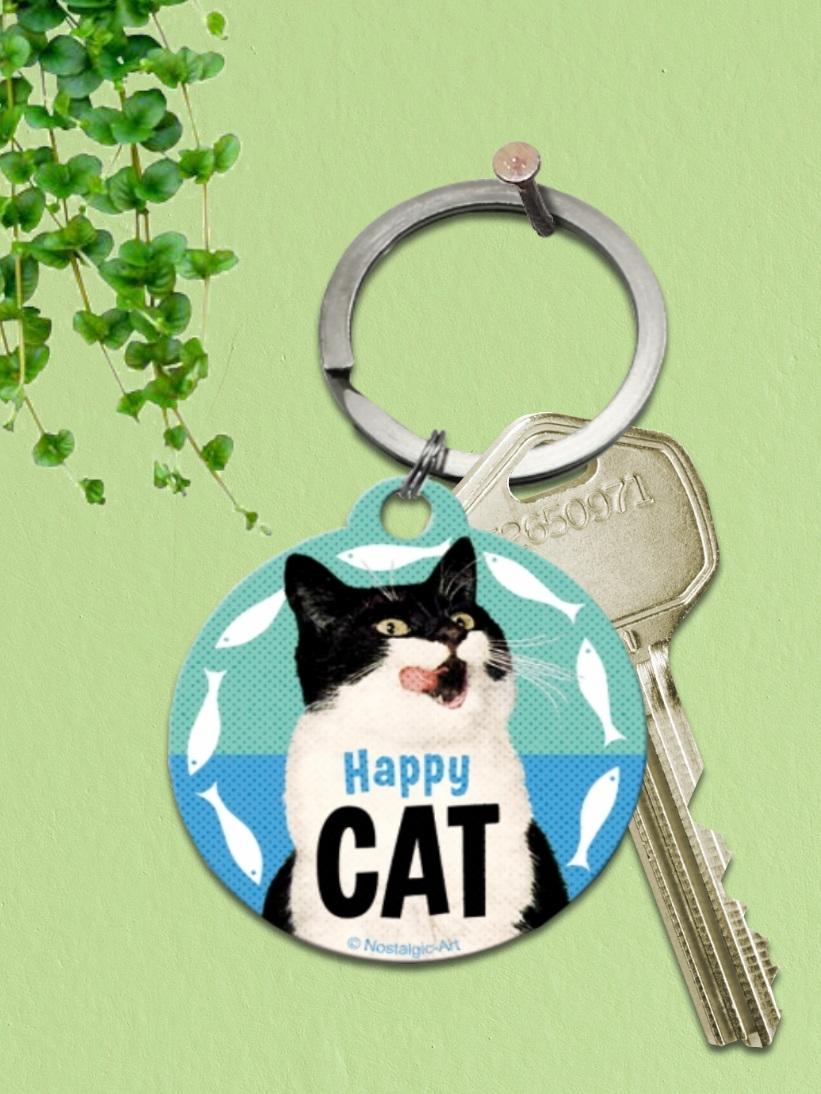 Breloc cu pisici Happy Cat