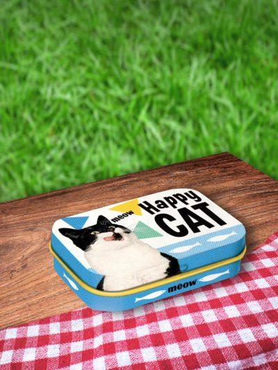 Cutie cu Bomboane Mentolate Happy Cat