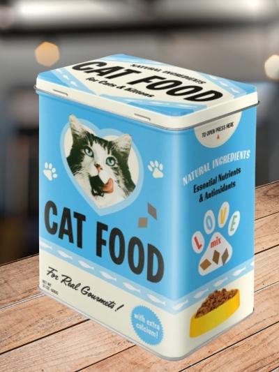 Cutie Metalica cu Capac cu Pisici Cat Food