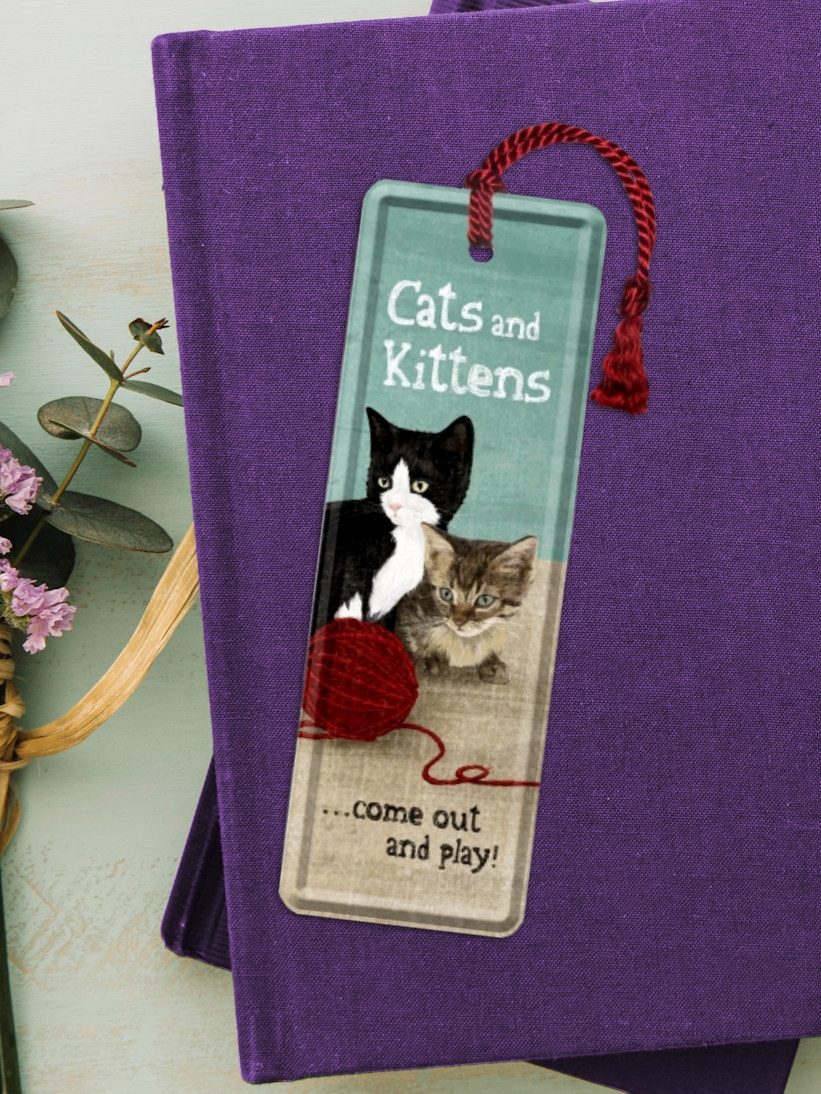 Semn de Carte cu Pisici Cat and Kittens