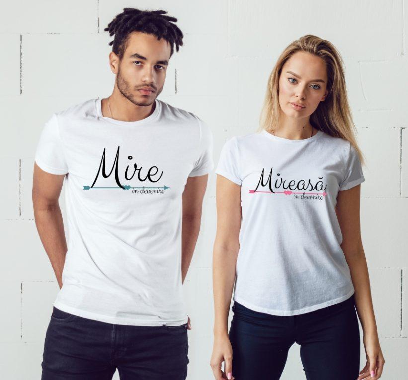 Tricouri Cuplu Mire si Mireasa in Devenire