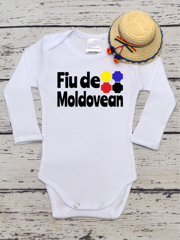 Body Bebe Cu Mesaj Fiu de Moldovean